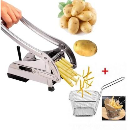 Coupe Frites Rapide + Mini Panier Inoxydable