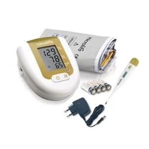 Tensiomètre Microlife Bras (détecte arythmie) + Thermomètre numerique