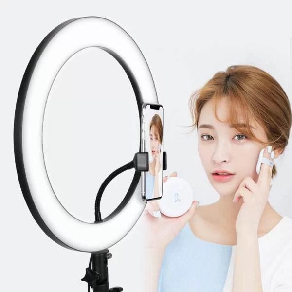 Ring Light maroc Anneau Bague lumineux LED Diametre 33cm+ Trepied 1m05 makeup casablanca
