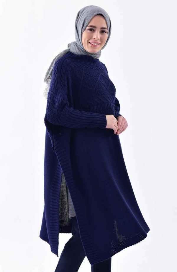 Tunique Pull longue en maille Tricot Disponible en plusieurs couleurs Taille Standard couleur bleu maroc