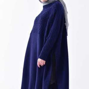 Tunique Pull longue en maille Tricot Disponible en plusieurs couleurs Taille Standard couleur bleu solde hijab