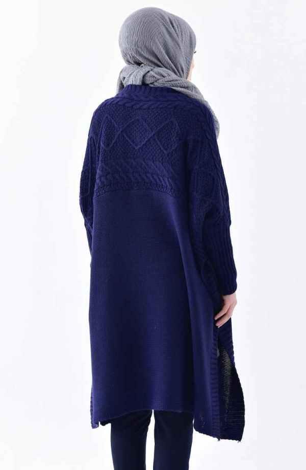 Tunique Pull longue en maille Tricot Disponible en plusieurs couleurs Taille Standard couleur Bleu top