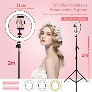 ring light professionel 22cm et trepied 2 metre maroc solde vente promo