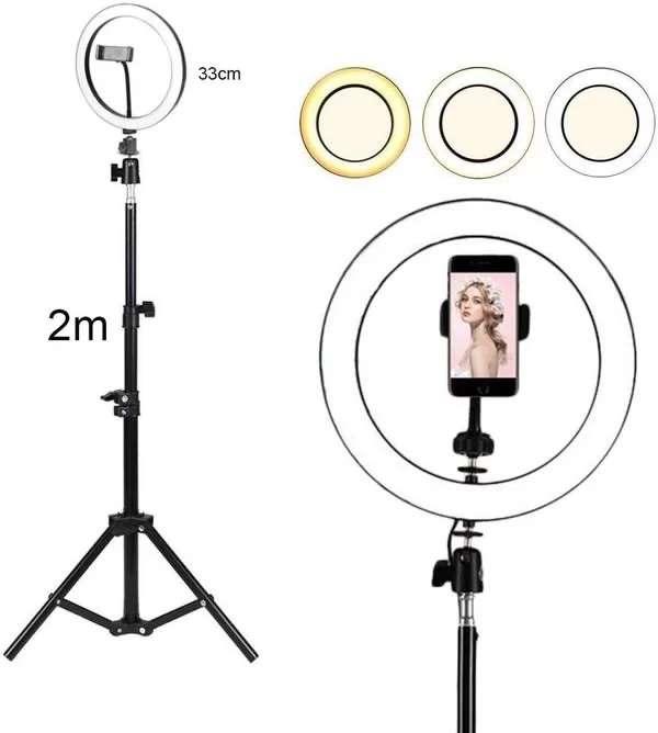 ring light professionel 33cm et trepied 2 metre maroc solde