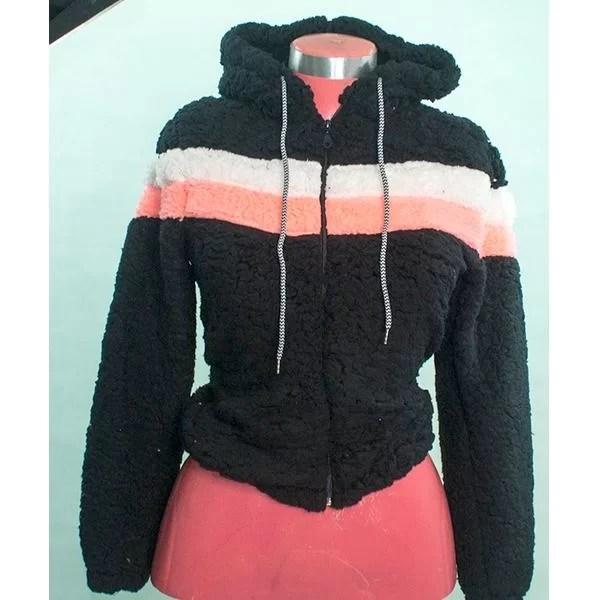sweat capuche tissus peluche promotion solde maroc noir hoodie