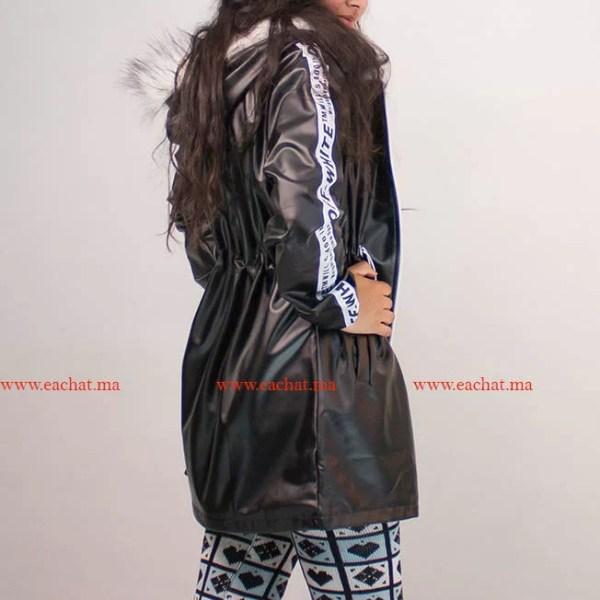 Veste Simili Cuire Bande Latérale حوايج البرد hiver maroc jacket