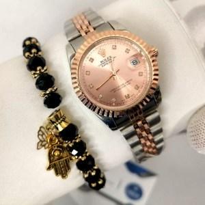 Reproduction Montre Rolex Datejust Bronze + Bracelet maroc casablanca rabat tanger agadir cadeau