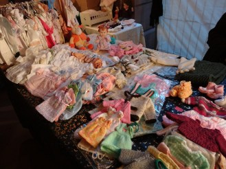 Handmade doll clothes at Artists' Christmas Market