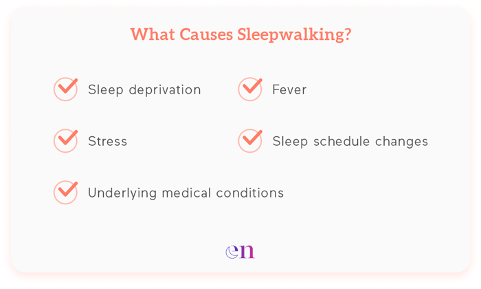 causes of sleepwalking