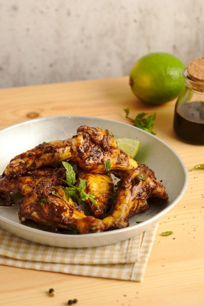 Caribbean Mole Baked Chicken Wings 3