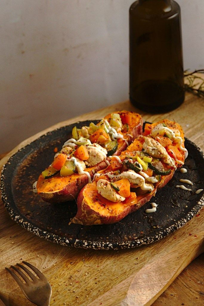 TURKEY STUFFED SWEET POTATOES 5