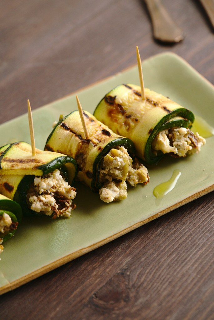 goat cheese grilled zucchini rolls 2