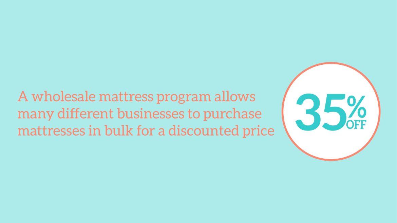 Best Wholesale Mattress Programs