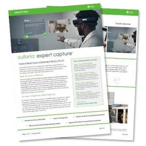 Vuforia Expert Capture Product Brief | EAC Product Development Solutions
