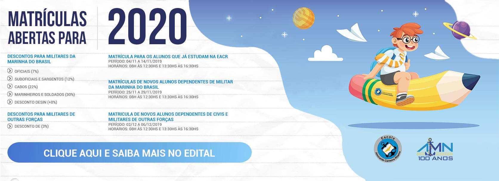 Banner Matrículas - EACR
