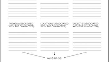 Worksheets Character Motivation Worksheet character motivation worksheet writing wednesday killing characters