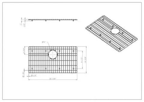 26 3 8 x 14 3 8 x 1 stainless steel protective bottom sink mat single grid elements sink