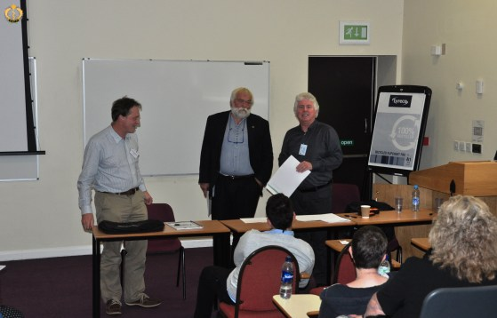 The organisers of the first EAFP-UK/IRL branches meeting in Keele, Dave Hoole & David Verner-Jeffreys, together with the EAFP vice president Patrick Smith