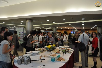 A coffee break during the EAFP conference in Prague. Photo B.Gorgoglione.