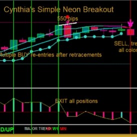 Cynthia's Simple Neon Breakout MT4 Trading