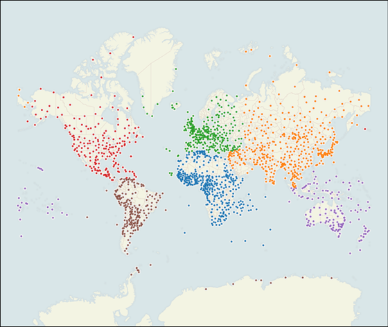 Map of all 1718 weather stations