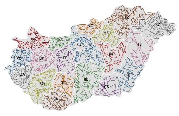 ZIPScribbleMap Hungary