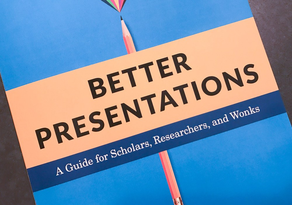 Review: Jon Schwabish, Better Presentations