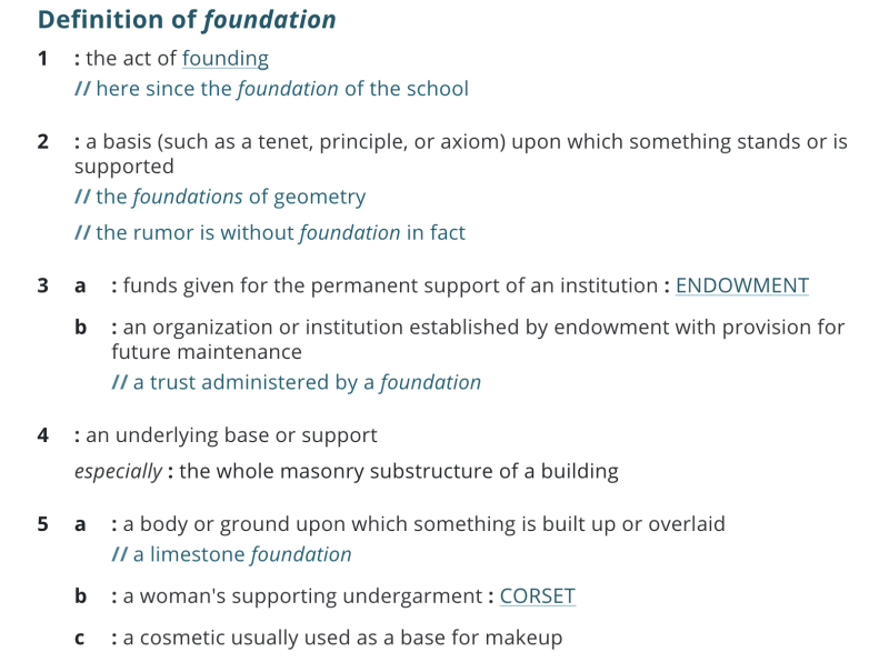 Definition of Foundation