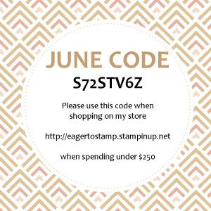 Stampin' Up! 2017 June Host Code