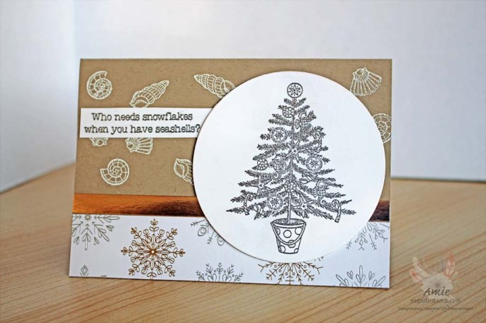 Heat Embossing Beachy Little Christmas