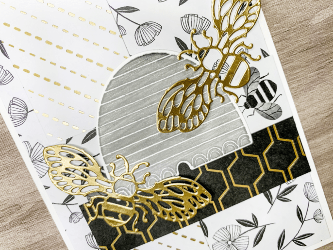 Honey Bee Stamp Is Buzzing Away