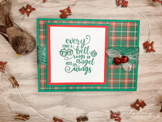 How To Add Jingle Bells to Angel Wings Christmas Card