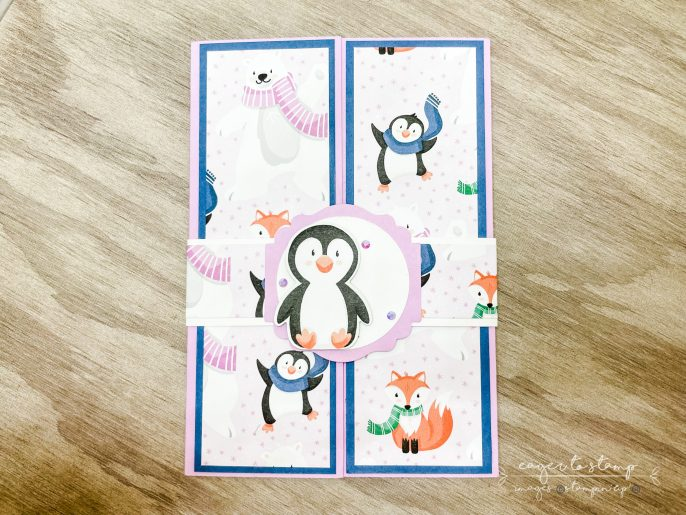 How To: Gorgeous Penguin Place Thank You Card