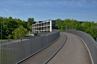 the main lecture hall on the campus Hubland
