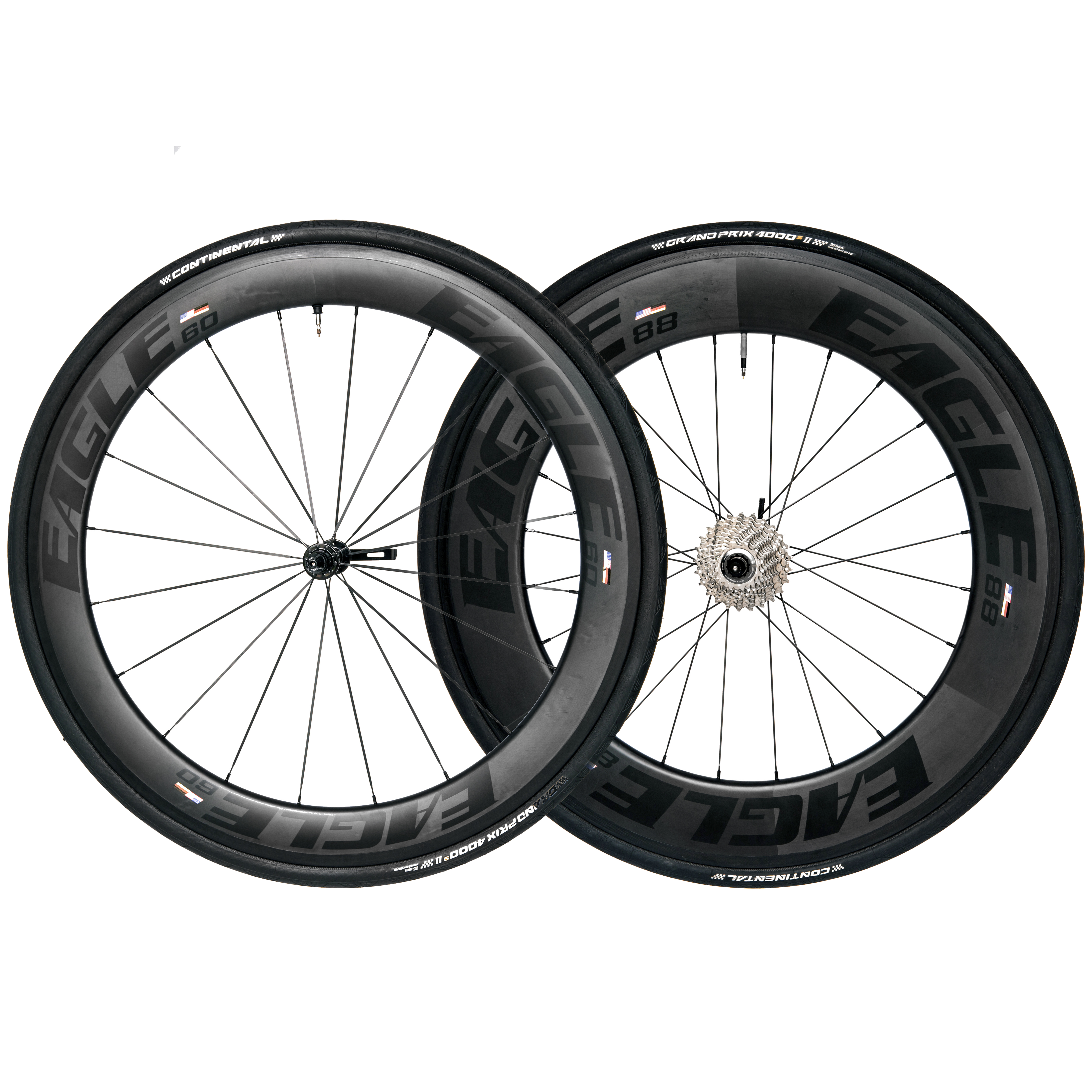 Eagle 68/88 Carbon Fiber Clincher Wheels - Triathlon/Time Trial