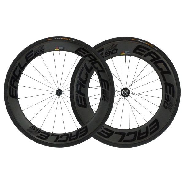 65/90 Carbon Fiber Clincher Wheelset - Triathlon/Time Trial Bikes