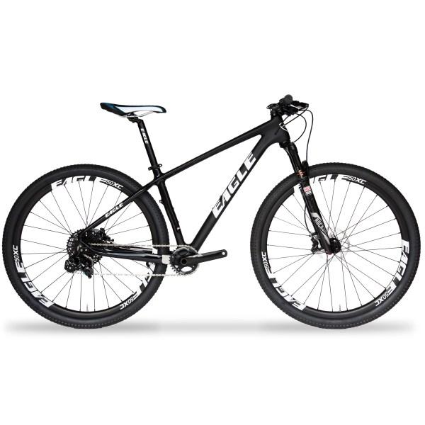 Eagle Patriot Silver Carbon Fiber Mountain Bike with SRAM GX