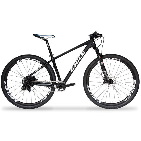 Eagle Patriot Silver Carbon Fiber Mountain Bike with SRAM GX