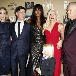 The cast of American Horror Story: Hotel attending the show's premiere