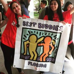 Club members promoting Best Buddies