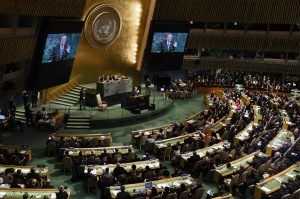 Trump discusses North Korea at the U.N. General Assembly. Photo courtesy of Olivier Douliery/Abaca Press/TNS