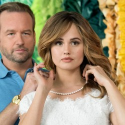 "Dallas Roberts and Debby Ryan in ""Insatiable."" (Annette Brown/Netflix)"