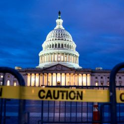 The US Capitol on the first morning of a partial government shutdown in Washington, DC on Dec. 22, 2018. Caption courtesy of USA Today/Photo courtesy of Jim Lo Scalzo, EPA-EFE