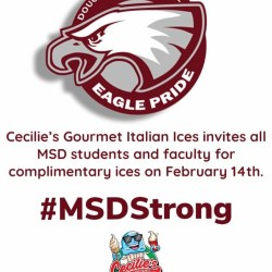 Cecilie's Italian Ice offering free ices on 2/14