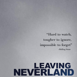 "The documentary poster for ""Leaving Neverland""."