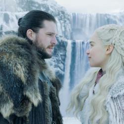 Kit Harington and Emilia Clarke, Game of Thrones. Photo Courtesy of HBO.