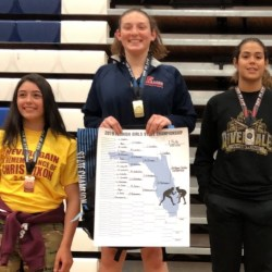 Wrestling captain Sara Ochoa ranked first in state after national wrestling tournament