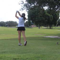 October's Athlete of the Month: Golf Player Lindsey Salomone. Photo Courtesy of Ryen Kowalczyk and Nicole Suarez.