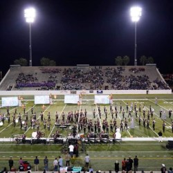 "The Eagle Regiment performing their show ""A Winter's End"" during FMBC state finals. Photo courtesy of the Eagle Regiment Facebook page"
