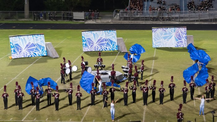 The Eagle Regiment competes at the 2019 Striking Cobra Invitational at Park Vista High School in Lake Worth. Photo courtesy of Eagle Regiment Facebook page